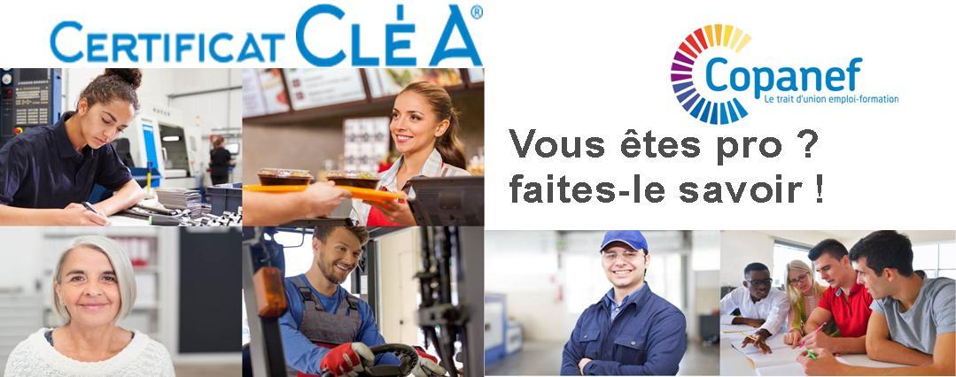 Certification CléA – Socle de connaissances et compétences professionnelles